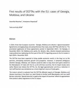 First results of DCFTAs with the EU: cases of G...